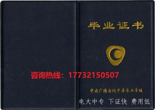 中央广播电视中等专业学校(电大中专)毕业证样本