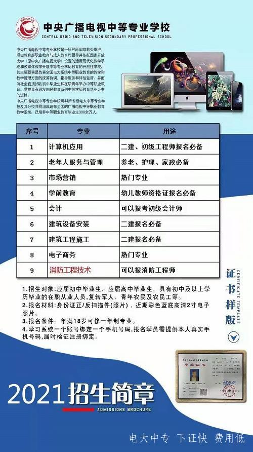 中央电大中专热门专业及用途介绍!